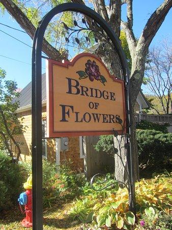 Shelburne Falls, MA : Sign on Water Street entrance