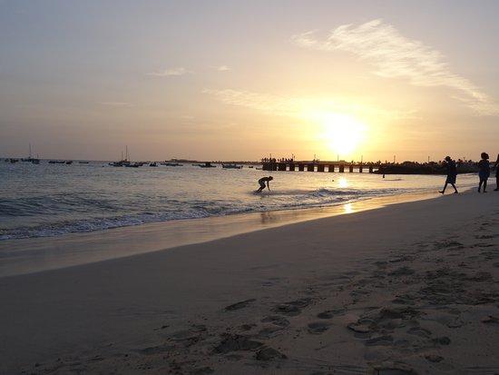 Praia de Santa Maria: Zonsondergang