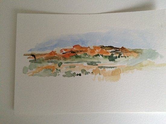 Yzerfontein, Afrika Selatan: This is one of the watercolors I painted in the western Cape. I was there to visit Rock painting