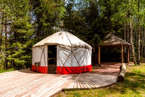 Kaunas County, Litauen: Yurt bathhouse