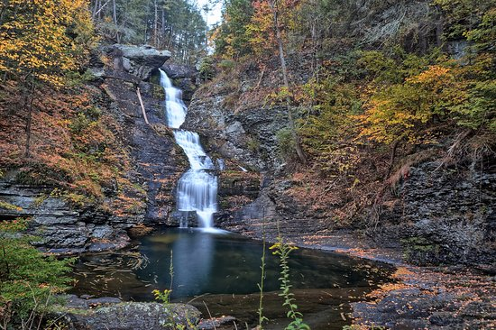Milford, PA: Raymondskill Falls, Leaves Changing