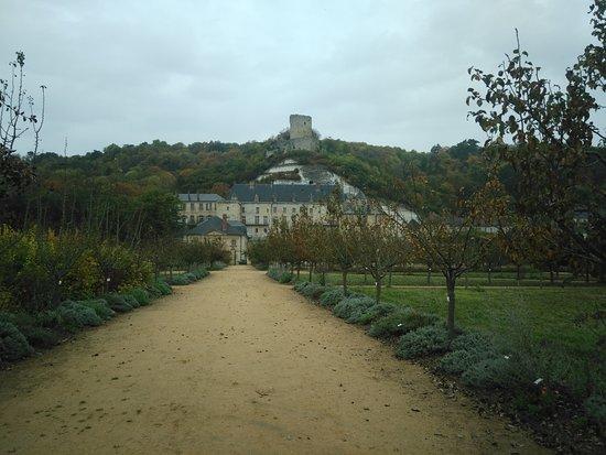Chateau de La Roche-Guyon : château vu du potager