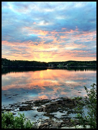 Lubec, ME: Campground sunset