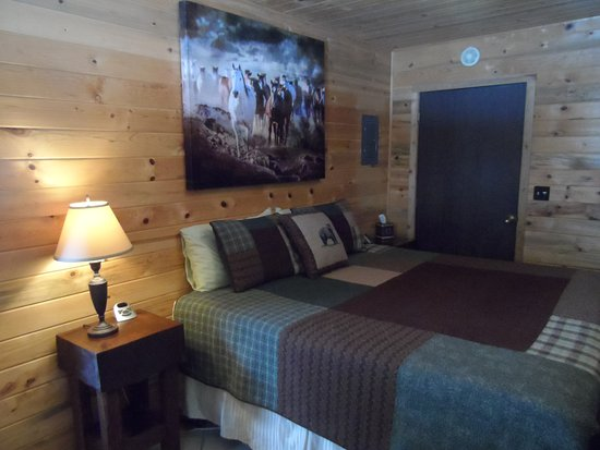 Clark, CO: Bear's Den, a one-bedroom cabin with a king bed