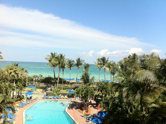 Four Points by Sheraton Miami Beach: Vista do nosso quarto