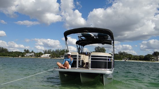 Osprey, FL: First Mate Ali hanging out on the front of Kokomo Boat!