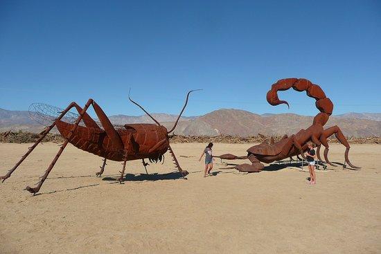 Borrego Springs, Καλιφόρνια: Grasshopper-Scorpion