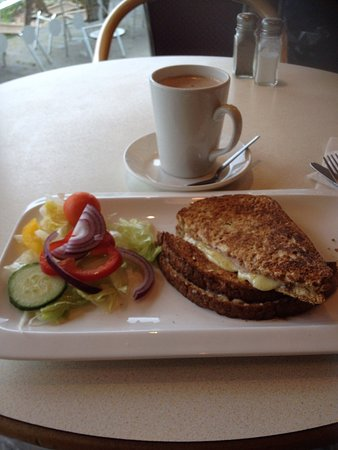 Brooklands Nurseries and Cafe Bar: Ham and cheese toasty.