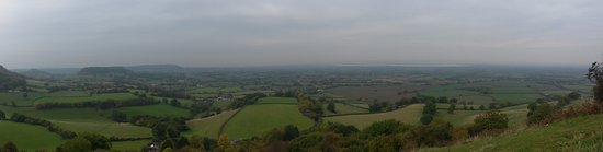 Nympsfield, UK: A panoramic view from Coaley Peak