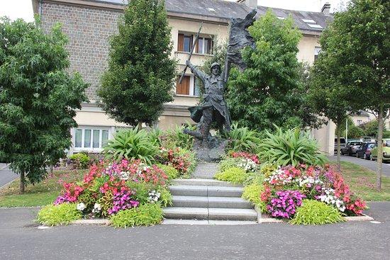 Saint-Lo, Francia: Part of the gardens