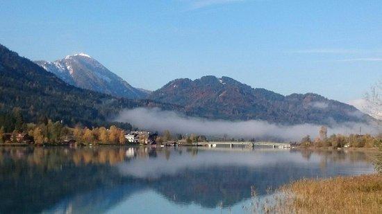 Weissensee, Oostenrijk: Ausblick von der Dachterasse