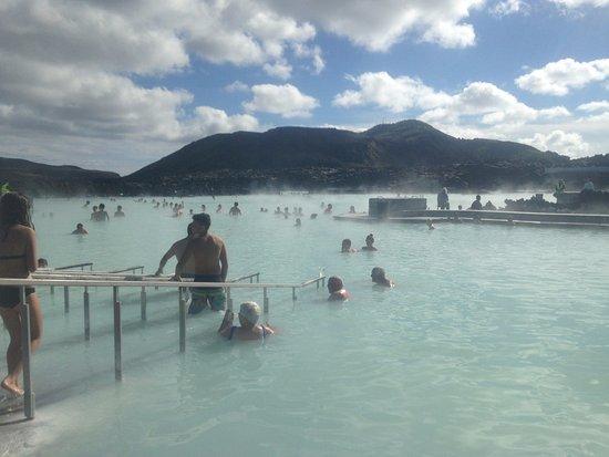 Grindavik, Iceland: Entering the lagoon
