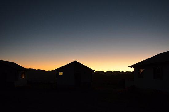 Putre, Chile: coucher de soleil depuis notre chambre