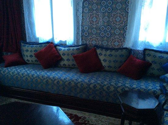 Hotel Tarek: Quiet ' corner ' adjacent to reception area