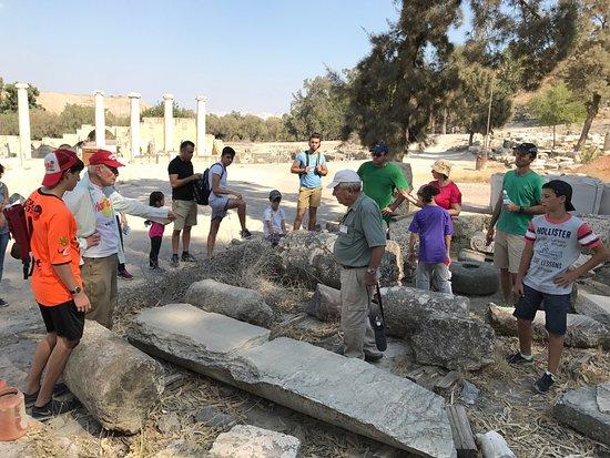 Beit She'an, อิสราเอล: יש הדרכה חינמית במקום