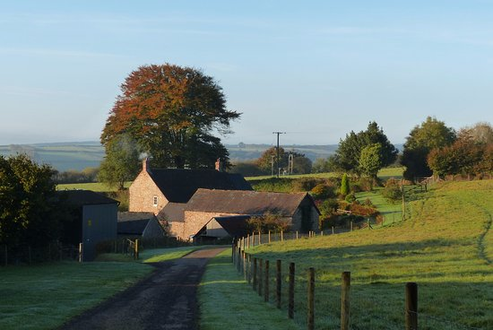 Wheddon Cross, UK: the lovely farmhouse