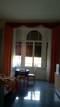 enormous windows - Picture of Hotel Soggiorno Athena, Pisa ...
