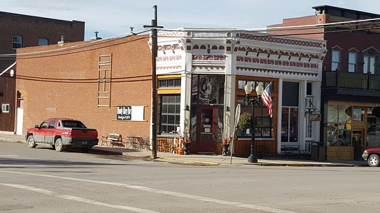 Philipsburg, MT: a corner access, very east to find at the 1 blinking red light, lol!