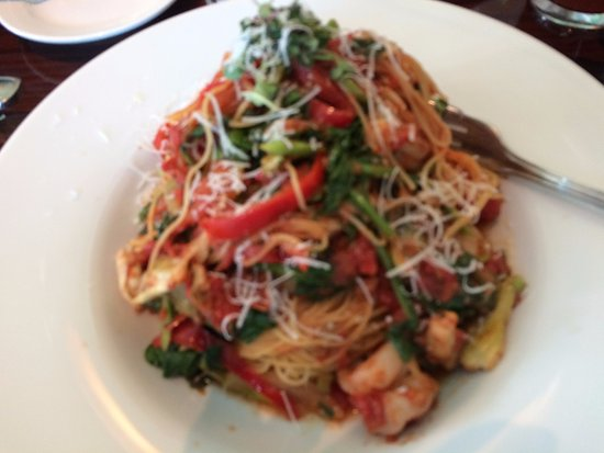 Shrimp With Angel Hair Pasta Picture Of Ariel S Grotto Anaheim