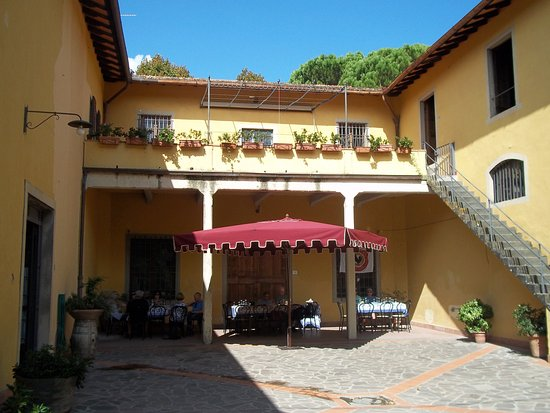 San Casciano in Val di Pesa, Italy: Lunch on the patio