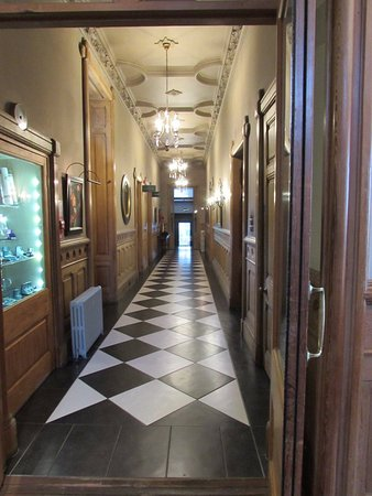 Nairn, UK: The chapel is off to the left of this corridor