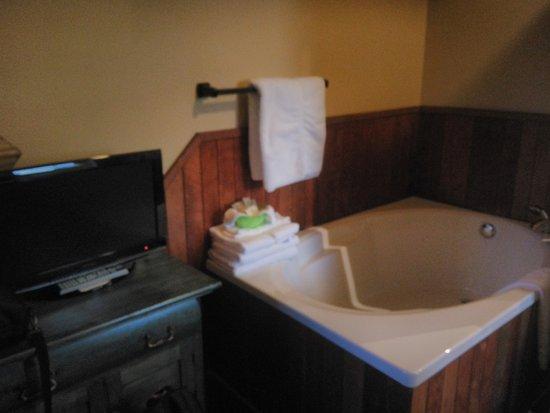 Grandes-Piles, Canada: Baignoire dans la chambre