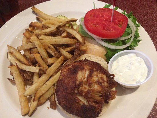 Snow Hill, MD: Crab Cake Sandwich