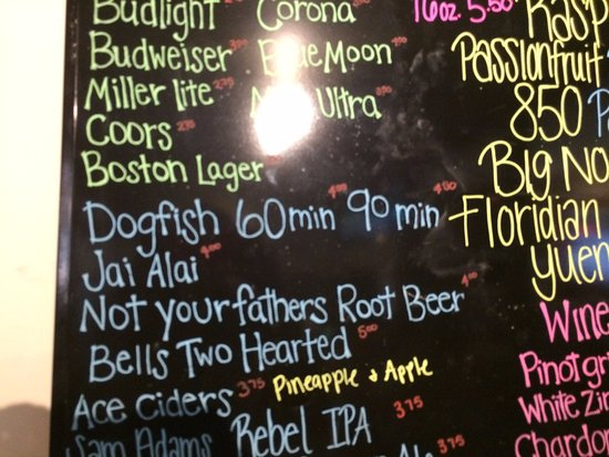 Crawfordville, FL: Partial Beer List