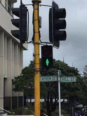 Wellington City Walkways: Kate Shepard's outline in their pedestrian's signs!