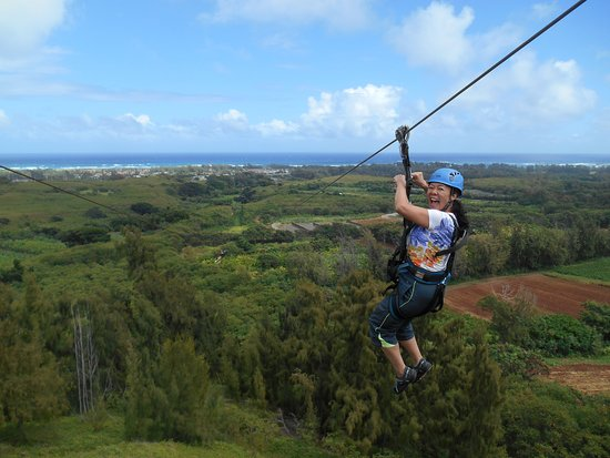 Kahuku, HI: Zipline with Ocean view