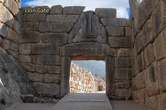 La porta dei leoni a mycene picture of lion gate for La porta media