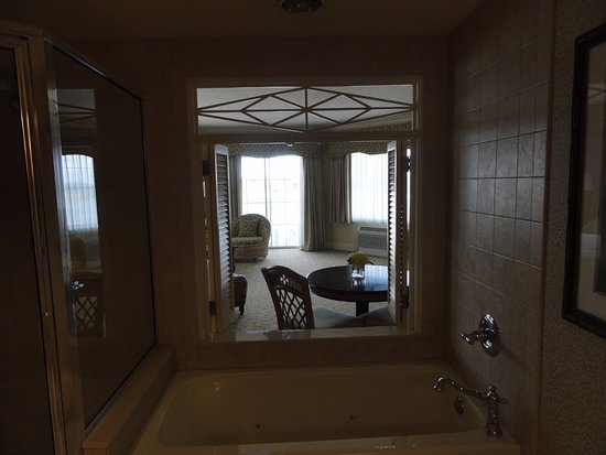 The Villages, FL: View of Suite through bathroom Shutters