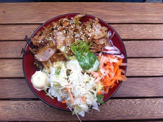Wanganui, Nueva Zelanda: Pork Donburi