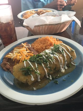 North Fort Myers, FL: Wet burrito and quesadillas both good.  6-7.00 range at lunch