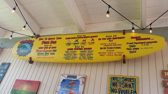 Puka Dog: Here's the whole menu!