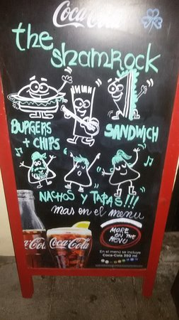 The Shamrock Irish Bar: Burgers and Sandwiches