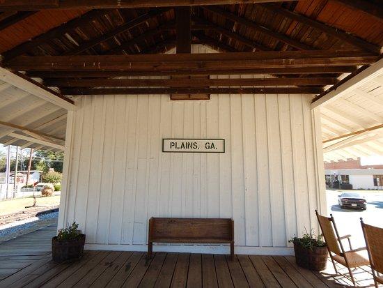 Plains, GA: outside of depot
