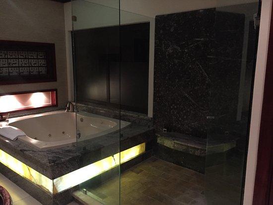 Tabacon Grand Spa Thermal Resort: bathroom - shower and tub