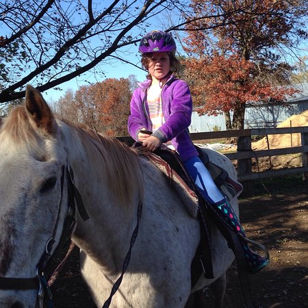 Mauston, WI: It was a superb day for a horse ride. It was my granddaughters first horse ride. She rode Barney