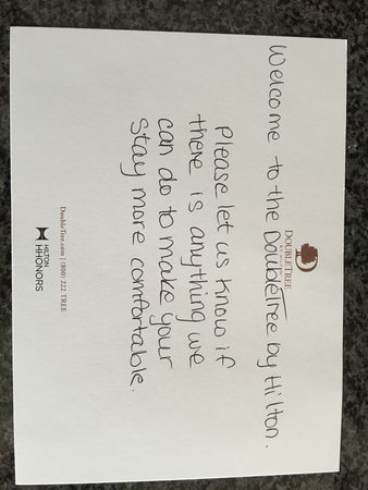 Welcome Letter  Picture Of Doubletree By Hilton Hotel Kamloops