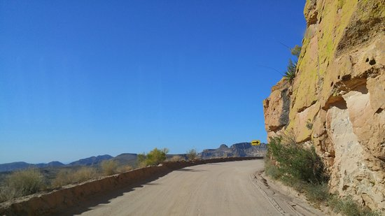 Arizona: Too many hairpin turns and curves to count.