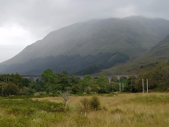 Glenfinnan Viaduct from the Visitor's Centre parking lot