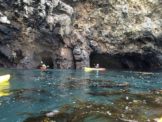 Channel Islands Outfitters: Heading into the cave!