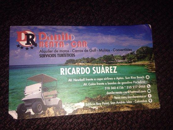 On Vacation Tower: Para rentar carrito de golf/ 80 mil pesos de 9am-6pm, para 6 personas. Golf cart rental for a da