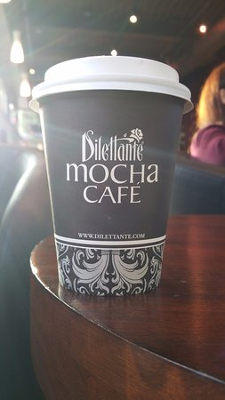 My Coffee at Dilettante Chocolates Kent Station