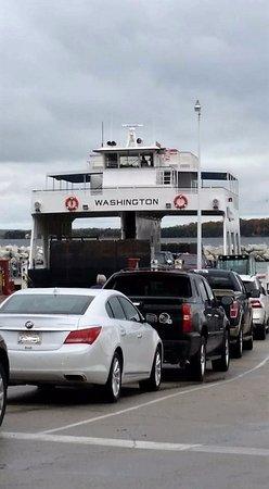 Washington Island, WI: Boarding the Ferry