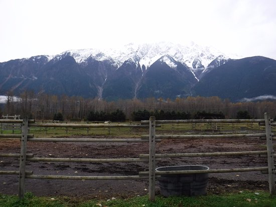 Pemberton, Canada: View of the mountains from the ranch
