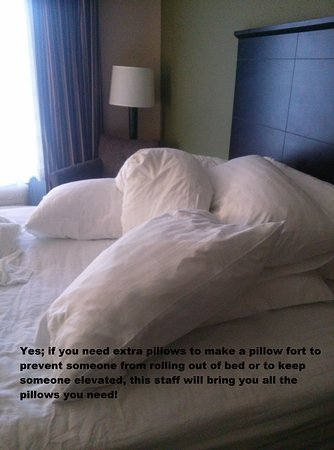 Holiday Inn Daytona Beach LPGA Blvd: Need a lot of pillows? They provided us with all the ones we needed, and then some!