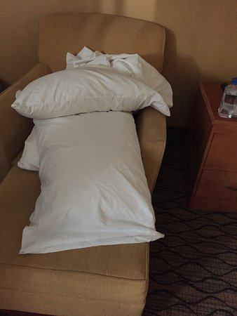Canton, Μίσιγκαν: This is how I found my pillow for the bed. No pillow cases when I called to ask for some I got s