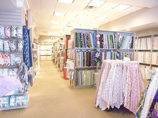 Center Harbor, Nueva Hampshire: miles and miles of fabric